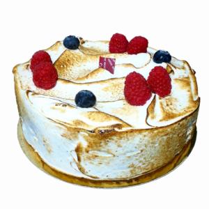 Tarta Limón Frambuesa y merengue